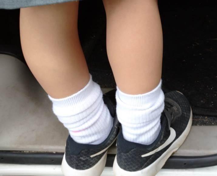 ずり落ちた直角靴下(お迎えその2)
