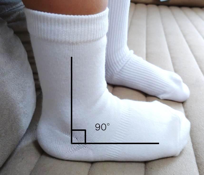 直角靴下のイメージ図