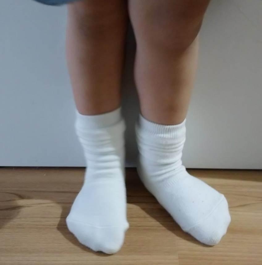 子供の靴下ずり落ちない検証_直角靴下のお迎え時の様子3