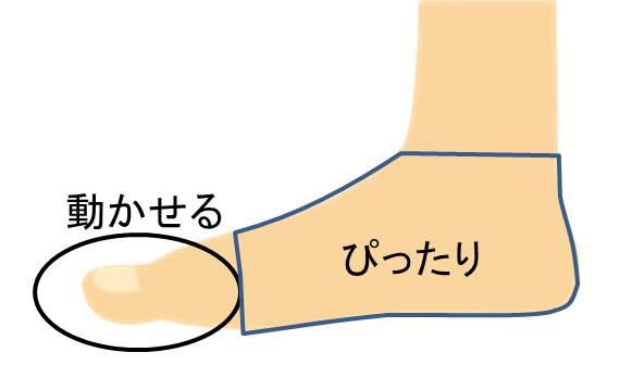 靴の中の足のイメージ図
