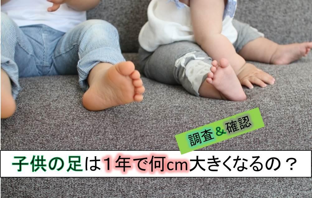 子供の足は1年で何cm成長するのか、のタイトル図