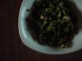 大根葉の炒め物