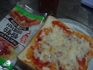 ピザトーストもどき