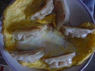 ぎょうざの卵とじ