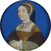 キャサリン・ハワードとされている女性の肖像 1540~1541年頃 class=