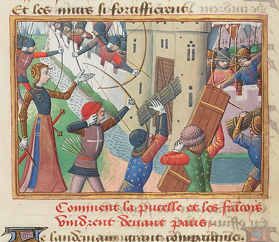 『シャルル7世年代記』の、パリ攻撃が描かれたミニアチュール。