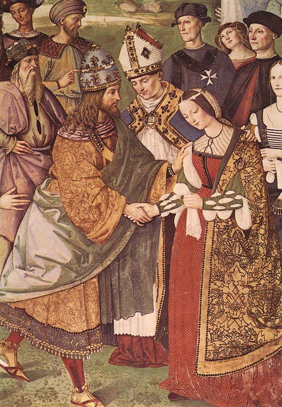 フリードリヒ3世とエレオノーレの対面 ピントゥリッキオの絵