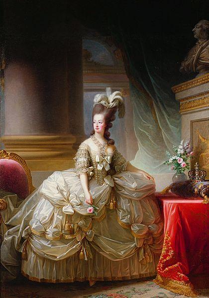 マリー・アントワネット 白いドレス ヴィジェ=ルブラン画 1778年