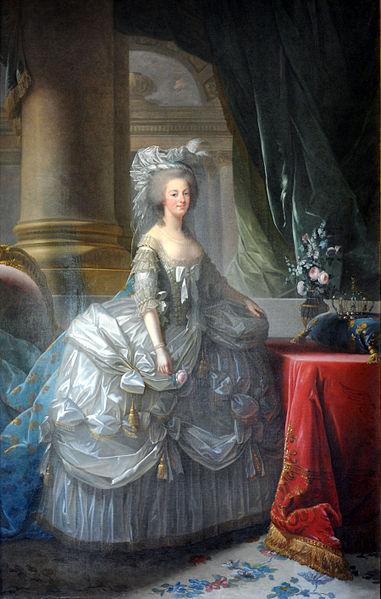 1783年 白いドレスのマリー・アントワネット ヴィジェ=ルブラン画