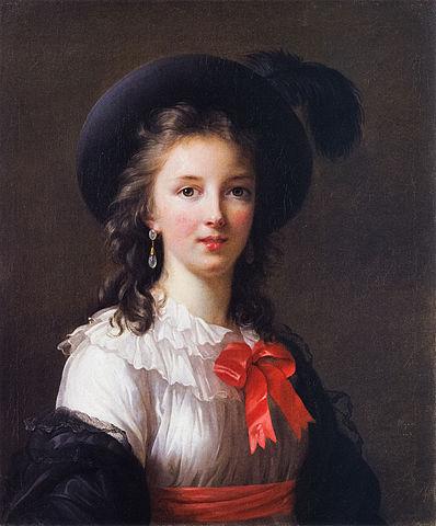 1781-1782頃  ヴィジェ=ルブラン自画像 赤いリボン キンベル美術館蔵