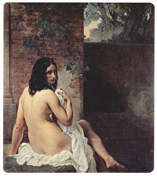 『水浴のスザンナ』 1859年 ブレラ美術館蔵