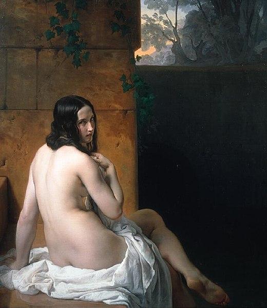 『水浴のスザンナ』 1850年 ナショナル・ギャラリー蔵 (ロンドン)