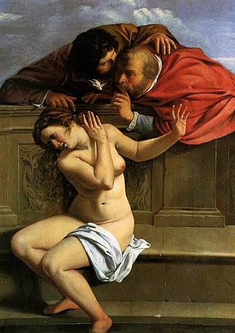 『スザンナと長老たち』 アルテミジア・ジェンティレスキ 1610年頃