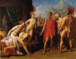 『アキレウスのもとにやってきたアガメムノンの使者たち』 1801年