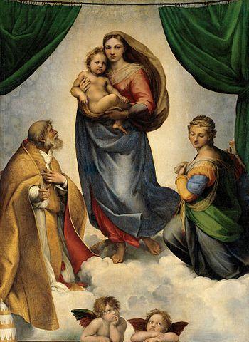 『システィーナの聖母』 ラファエロ 1513年ー1514年