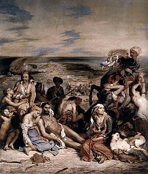 『キオス島の虐殺』 ドラクロワ 1824年