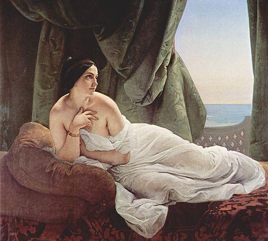 『横たわるオダリスク』 1839年 アイエツ
