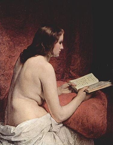 『本を読むオダリスク』 1866年 カルロッタ邸、トレメッツォ