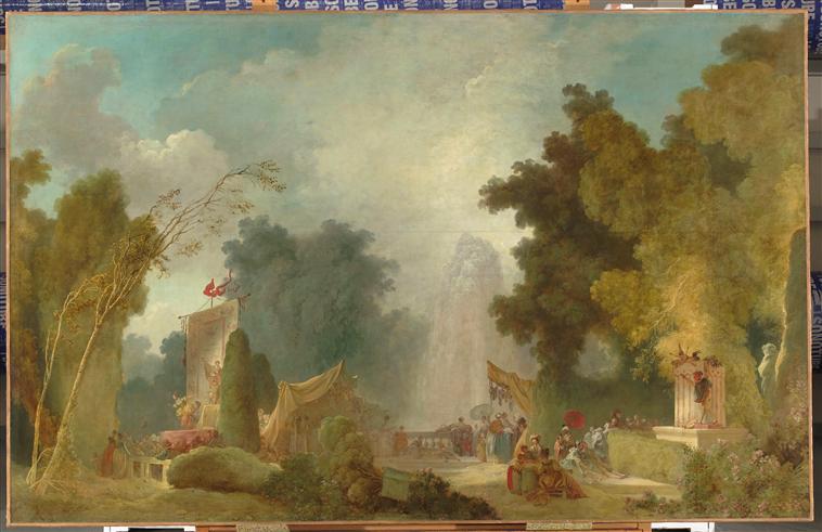 『サン=クルーの祭』 フラゴナール画 1775年 フランス銀行(パリ)
