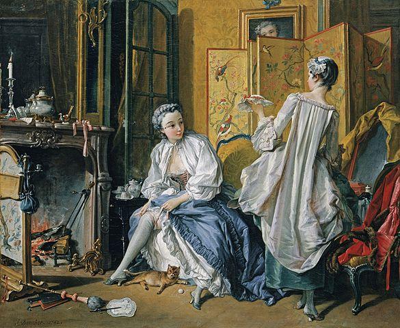 『化粧』 フランソワ・ブーシェ 1742年 ティッセン=ボルネミッサ美術館蔵