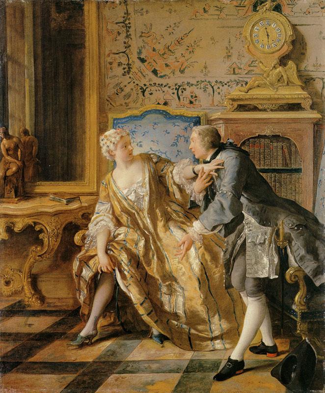 『ガーター』 ジャン=フランソワ・ド・トロワ画 1724年 メトロポリタン美術館蔵