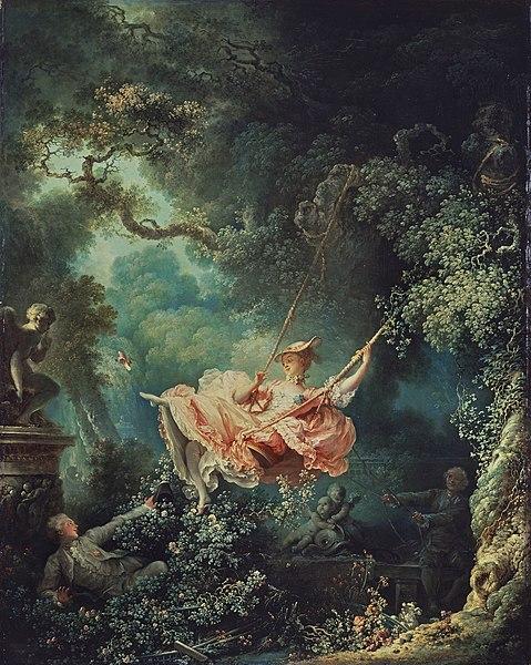 『ぶらんこ』 ジャン・オノレ・フラゴナール 画 1768年頃  ウォレス・コレクション蔵
