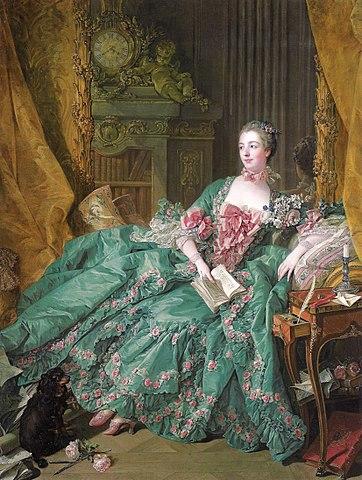 『ポンパドゥール夫人』 フランソワ・ブーシェ 1756年 アルテ・ピナコテーク蔵