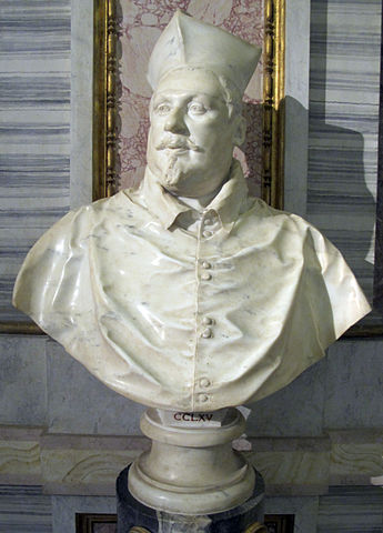 シピオーネ・ボルゲーゼ(1577年9月1日 – 1633年10月2日) ベルニーニ作 1632年 ボルケーゼ美術館蔵