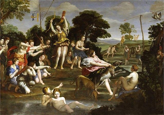 『狩りをする女神ディアナ』 ドメニキーノ 1617年