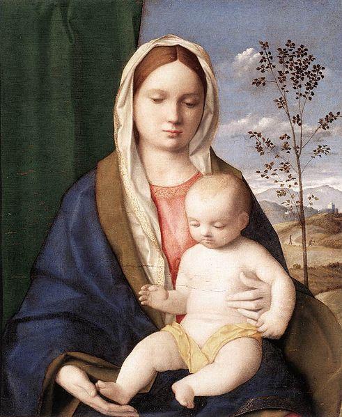 『聖母子』 ジョヴァンニ・ベッリーニ 1510年 ボルケーゼ美術館蔵