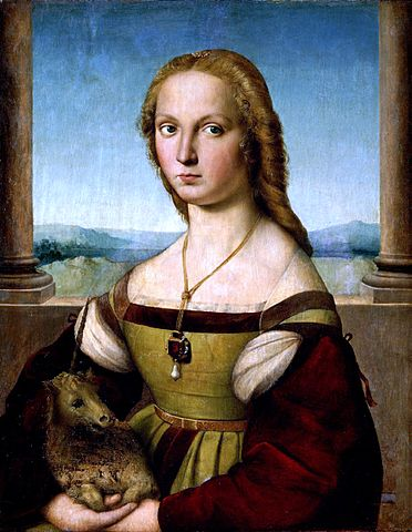 『一角獣と貴婦人』 ラファエロ 1505年頃
