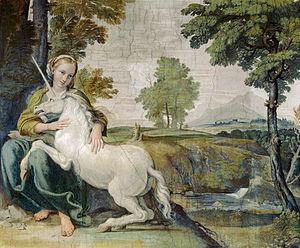 『処女と一角獣』 ドメニキーノ 1602年 パラッツォ・ファルネーゼ