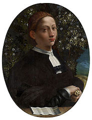 『若い女性の肖像』 ドッソ・ドッシ 1518年頃 ヴィクトリア国立美術館蔵