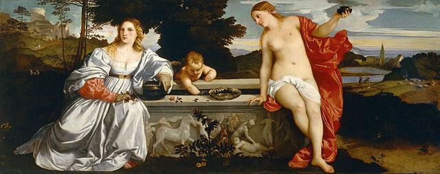 『聖愛と俗愛』 ティツイアーノ 1514年