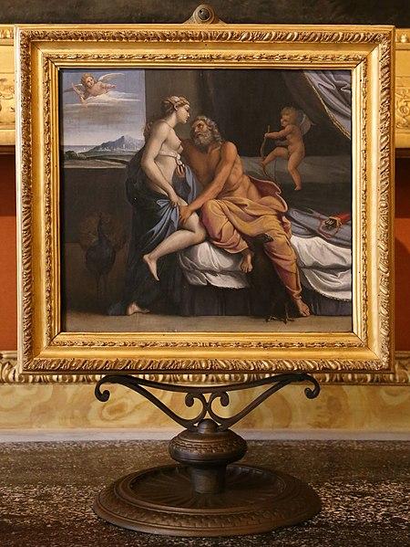 『ユピテルとユーノー』 アントニオ・カラッチ 17世紀初め