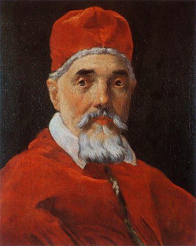 『教皇ウルバヌス8世の肖像』 ベルニーニ 1625年 国立古典絵画館蔵