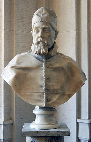 『教皇ウルバヌス8世の胸像』 ベルニーニ 国立古典絵画館蔵