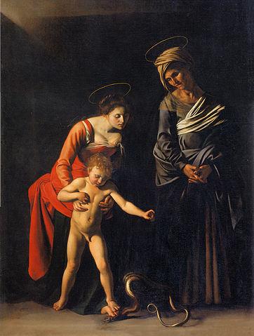 『蛇の聖母』 カラヴァッジオ 1605年ー1606年