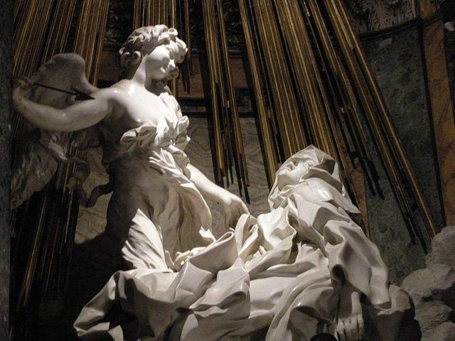『聖テレサの法悦』 ベルニーニ 1647年ー1652年 サンタ・マリア・デラ・ヴィットーリア聖堂