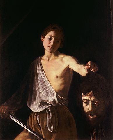 『ダヴィデとゴリアテ』 カラヴァッジオ 1610年頃