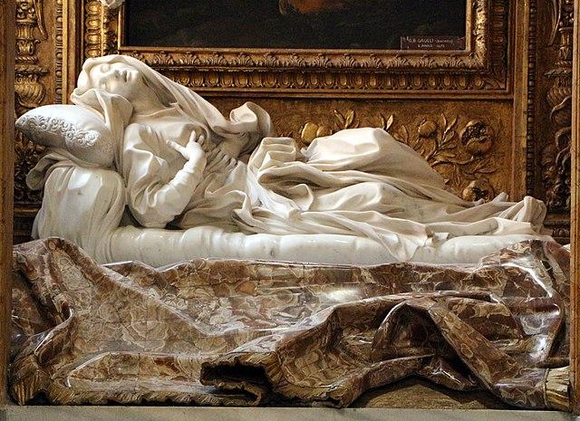 『福女ルドヴィカ・アルベルトーニの法悦』 ベルニーニ 1622年-1625年 サン・フランチェスコ・ア・リーバ聖堂