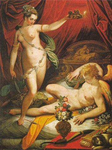 『クピドとプシュケ』 ヤコボ・ズッキ 1589年 ボルケーゼ美術館