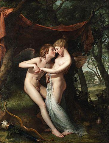 『アモールとプシュケ―』 ヒュー・ダグラス・ハミルトン 1792年-1793年 アイルランド国立美術館蔵