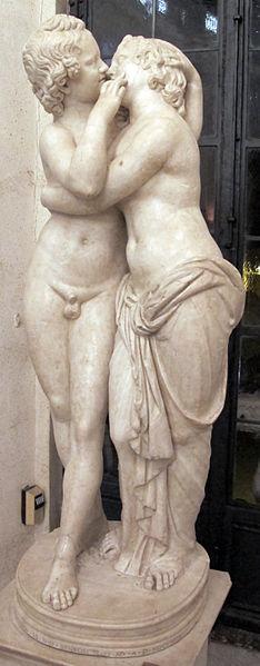『アモール(クピド)とプシュケ―』 紀元前2世紀の失われた原作に基づく、1世紀の模刻 ローマ、カピトリーニ美術館蔵