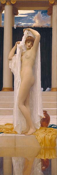 『水浴するプシュケ』 フレデリック・レイトン 1890年頃 テート・ブリテン蔵