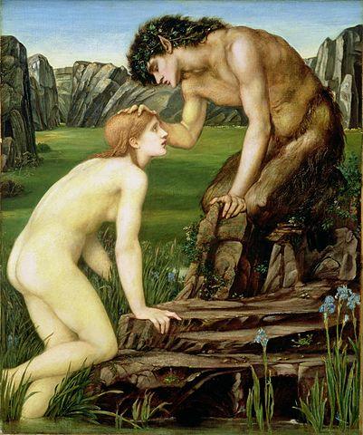 『パンとプシュケ』 エドワード・バーン=ジョーンズ 1872年ー1874年 フォッグ美術館