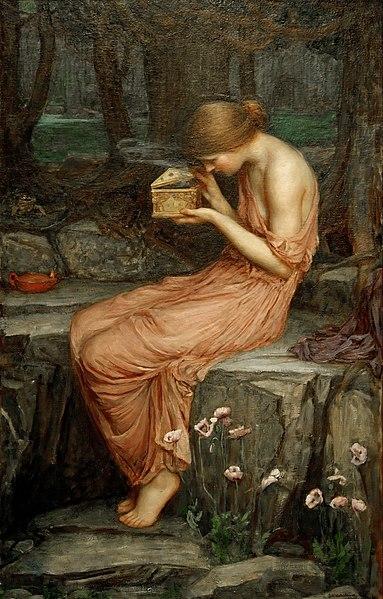 『黄金の箱を開けるプシュケ』 1903年 個人蔵