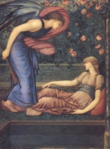 『プシュケを発見したアモール』 エドワード・バーン=ジョーンズ 1865年 マンチェスター市立美術館