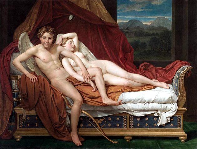 『アムールとプシュケ』 ジャック=ルイ・ダヴィッド 1817年 クリーブランド美術館)