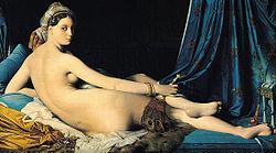『グランド・オダリスク』(横たわるオダリスク) 1814年 ルーヴル美術館蔵